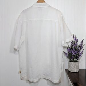 Steve Harvey Shirts - Steve Harvey Men's White Linen & Silk Shirt 2XL